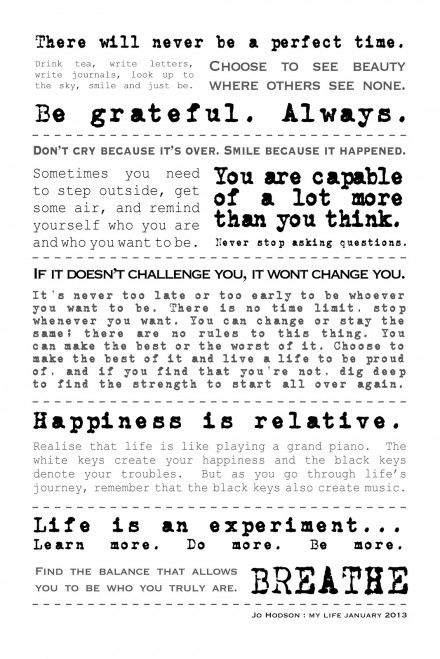 New Year's Resolutions 2013 (#2)…